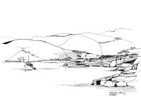 Der Hafen von Aegina, September 1962