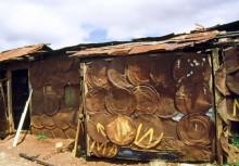 Häuser im Slum von Kibari, 1987
