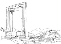 Tor zum Apollo Tempel auf Naxos, Juli 1964