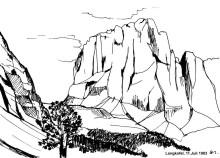 Der erste Blick auf den Langkofel, 1983