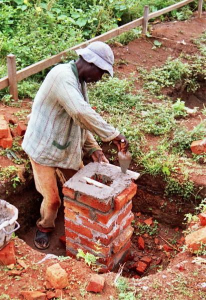 BRRI Testhäuser von UST, Kumasi im Ziegelbau
