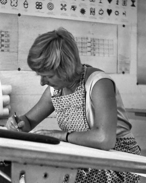 Als junge Architektin in Ghana im Accra-Büro 1963