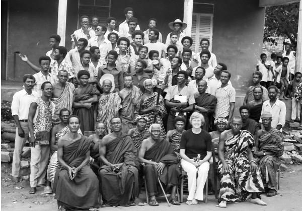 Gruppenfoto Entwurfsseminar 1980 in Tafiefe