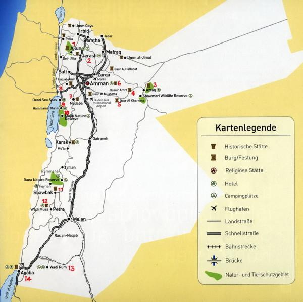 Reise nach Jordanien, Reiseverlauf, 2010