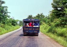 Fahrt nach Boabeng-Fiema, 1986