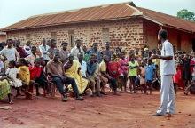 Dorfversammlung in Boabeng, 1986