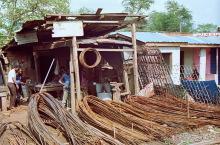 Im Suame Magazine in Kumasi; Gitter und Zäune, 1986