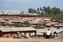 Kitui Pumwani, einer der Slums von Nairobi, 1990