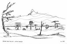 Mount Kenya vom Sweet Water Camp, 1993