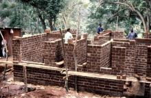 Mauern mit Lehmsteinen, Mayotte