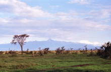 Mount Kenya vom Sweet Water Camp aus, 1993
