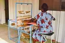 Broad Loom Weben im ITTU in Tamale, 1987