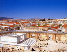 """Zeus Tempel und Forum einst (aus """"Jordanien einst und jetzt"""")"""