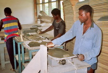 FCR-Produktion bei PG Construction in Accra, 1991