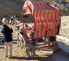 Unser Pferdewagen für die Fahrt durch den Sik bis zum Schatzhaus