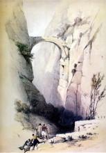 Lithographie von David Roberts mit dem Bogen am Sik Eingang (von 1838)