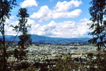 Blick auf Riobamba
