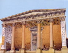"""Qasr el-Bint Tempel, Originalzustand (aus """"Jordanien - einst und jetzt"""""""