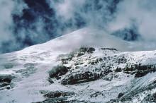Blick auf den Chimborazo Gipfel