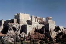 Die Akropolis in Athen im August 1962
