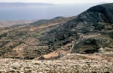 Blick nach Naxos und Anafi vom Frauenkloster auf Paros, Juni 1964