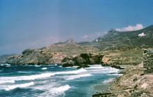 Küste von Naxos bei Sturm, Juli 1964