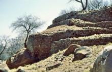 Khami Ruinen auf dem Hügel