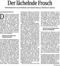 Zeitungsartikel über Chipo Musandi, 24.8.04