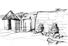 Ziegelbrennen für den Latrinenbau in Chitepo, 1985