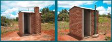 Standard rechteckige VIP Latrinen, Zimbabwe