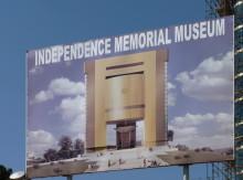 Baustellenschild vom Unabhängigkeitsmuseum, 2011
