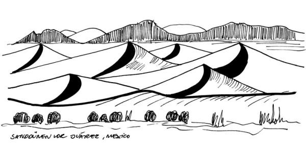 Sand Dünen vor Juarez, Mexico, 23.10.1990