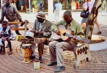 Straßenmusiker in Harare
