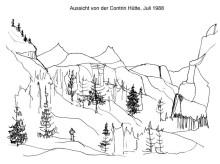 Ausblicke von der Kontrin Hütte, Juli 1988