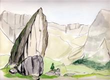 Blick von den Cisle Steinen zur Sielles Scharte, 1999