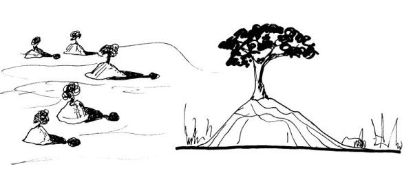 Bäume in Termiten Hügeln, 1985