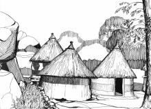 Chapungu Kral bei Harare, 1988