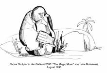 """Der """"Magic Miner"""" von Mukawasi in der Gallerie 2000, 1993"""