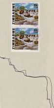 Briefmarke mit den Inyangombi Fällen