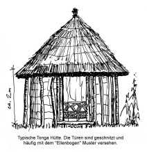 Typische Tonga Hütte, 30.8.99