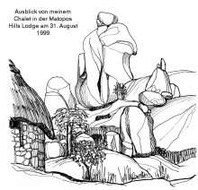 Matopos Berge, in der Hills Lodge, 31.8.1999