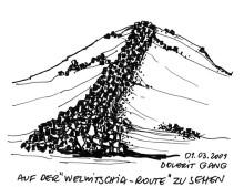 Doleritgang auf der Welwitschia Hochfläche, 1.3.