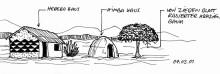 Traditioneller Häuserbau im Kaokoveld. 4.3.