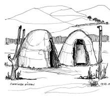 Ovahimba Häuser, 4.3.