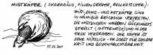 Ein Schwarzkäfer, der Pillendreher, 5.3.