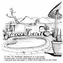 Der Pool in der Kulala Lodge, 7.3.
