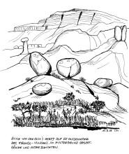 Blick zu den Erongo Kraterrändern, 11.3.