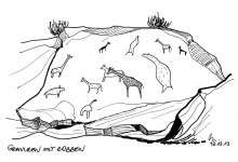 Felsgravuren mit Robben, Twyfelfontein, 12.3.