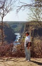 Blick zur Brücke nach Zambia, 2.8.1986