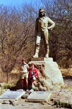 Ian und Ross am Livingstone Denkmal